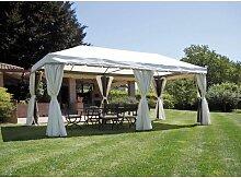 Pavillon Rechteckiger 6x3 m aus aluminium   Ecru
