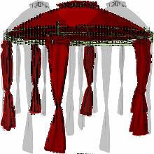 Pavillon rund Rot Ø350cm-MMC3602