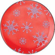 Pavillon – Schneeflocken-Muster, rotes Glas,