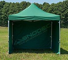 Pavillon Schnell 3x 3grün in Stahl 30mm + seitliche. Wasserdicht 100% garantier