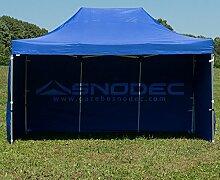 Pavillon Schnell 3x 4.5blau aus Stahl 30mm + seitliche. Wasserdicht 100% garantier