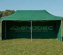 Pavillon Schnell 3x 6grün in Stahl 30mm + seitliche. Wasserdicht 100% garantier