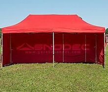Pavillon Schnell 3x 6rot aus Stahl 30mm + seitliche. Wasserdicht 100% garantier
