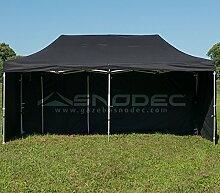Pavillon Schnell 3x 6schwarz aus Stahl 30mm + seitliche. Wasserdicht 100% garantier