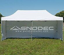 Pavillon Schnell 3x 6weiß in Stahl 30mm + seitliche. Wasserdicht 100% garantier