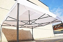 Pavillon Schnell zusammenklappbar 3x 3m faltbar A Akkordeon Markt Pavillon mit seitlichen BIANCO
