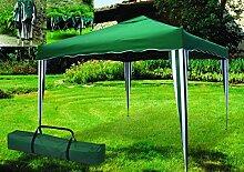 Pavillon Teleskop Faltbar Klappbar 3x 3mt grün für Outdoor Camping Strand Zelt Garten