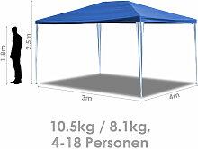 Pavillon Wasserfest 3x3-3x9m Stahlkonstruktion