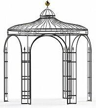 Pavillons, Garten Pavillon, Metall Pavillon, Pavillon Stahl, Rankpavillon Holland Ø 350 cm (Eisenblank)