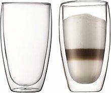 PAVINA: 2 Stück Glas, doppelwandig, 0.45 l