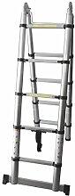 Pavo Multifunktionsleiter, Teleskopleiter, Gelenkleiter, Klappleiter, Mehrzweckleiter - Norm EN131 - 2x5 Stufen, 3,20 m, 2 x 1,60 aus Aluminium, 8032792