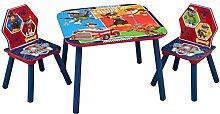 Paw Patrol Kleiner Tisch und Stühle (Blau)
