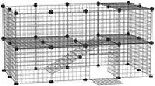 PawHut Freigehege Laufgitter für kleine Haustiere