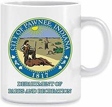 Pawnee Indiana Parks und Erholung Kaffeebecher