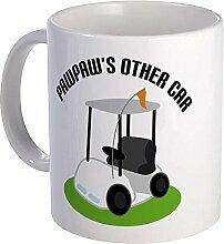 PawPaw Golf Cart Tasse Becher, dunkel