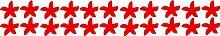 Pazifischen Ozean 22 Seesterne, Größe 5cm Breite, Farbe Rot Badverkleidung Seesterne -Aufkleber, Fliesenaufkleber , Dusche Aufkleber , Seesterne Aufkleber ThatVinylPlace