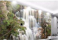 Pbldb 3D Fototapete Große Wasserfall Landschaft