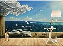 Pbldb 3D Tapete Wandbilder Meerblick Bücher