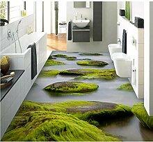 Pbldb 3D Wandbild Tapete Boden Tapete Fluss Stein