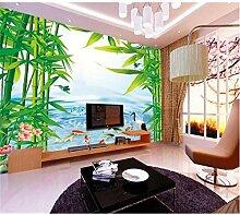 Pbldb 3D Wandtapete Dekorative Tapete Bambus Wald