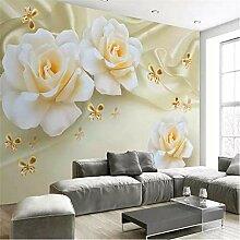 Pbldb 3D Wandtapete Dekorative Tapete Warm Rose