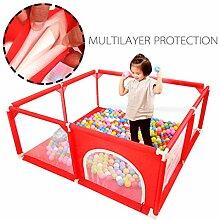 PBTRM Kinder-Spielzaun,Tragbarer Laufstall Indoor