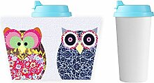 Pc Design Owl 1 For Man Coffee Cup Shock Resistance