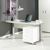 PC Schreibtisch in Weiß Aluminium