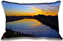 Peace Pillow Cases Protector 20x30 inch Sofa Bed Home D¨¦cor Standard Size Pillow Covers(Twin Sides)
