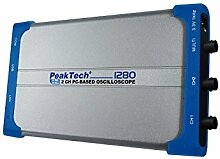 PeakTech USB und Lan Digital Oszilloskop, 2-Kanal, 60MHz / 500 MS/S / Storage Oscilloscope / Dso / PC Oszilloskop / für Windows Systeme inklusiv Software, 1 Stück, P 1280