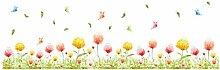 Peanutaod Wandaufkleber Blumen Pflanze Zaun DIY