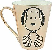 Peanuts - Tasse Snoopy: metallic, gold