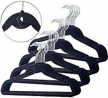 PEARL Bügel: 40er-Set Raumspar-Kleiderbügel,