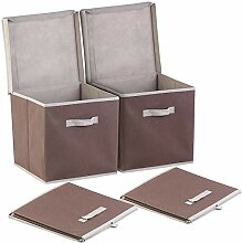 PEARL Faltbox mit Deckel: 2er-Set