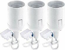 PEARL Lampenfassungen: Baufassung im 3er-Set, E14 mit 2-poliger Lüsterklemme, Weiß (Fassungen)