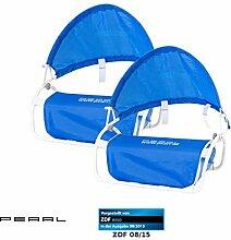 PEARL Sonnenschutz für Liege: Nacken-Kissen mit Sonnenschutz für Strand und Outdoor 2er-Set (Strand-Nackenrolle Mini-Sonnenschirm)