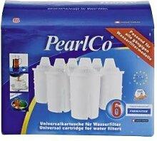PearlCo® - Wasserfilter-Kartusche Classic 6 er Pack