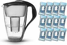PearlCo Glas-Wasserfilter (anthrazit) -
