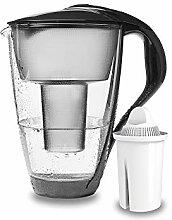 PearlCo - Glas-Wasserfilter (anthrazit) mit 1
