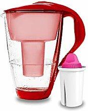 PearlCo - Glas-Wasserfilter (rot) mit 1 Magnesium