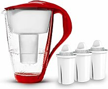 PearlCo Glas-Wasserfilter (rot) Starter-Paket