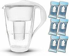 PearlCo Glas-Wasserfilter (weiß) -