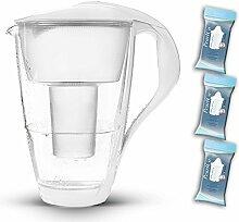 PearlCo Glas-Wasserfilter (weiß) Starter-Paket