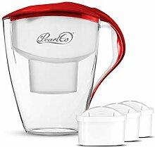 PearlCo Wasserfilter Astra (rot) Starter-Paket