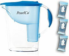 PearlCo Wasserfilter Standard (hellblau) Starter-Paket inkl. 3 classic Filterkartuschen (kompatibel mit Brita Classic)