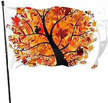 PecoStar Premium Gartenflagge Herbst Ahorn Baum