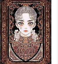 pectyxsw Klassische Mädchenfigur DIY Diamond