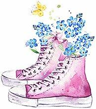 pectyxsw Rosa Schuhe und Blumen DIY 5D Diamond