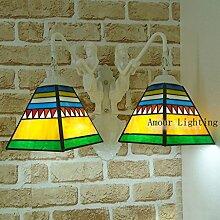 Pedicle Tiffany-Lampen Tiffany pedicle Jane westlichen Stil Meerjungfrau Wohnzimmer Flur Flur Treppe dekorative Lampen Wand