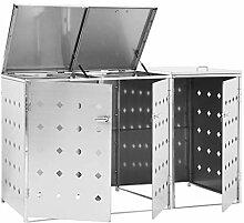 pedkit Mülltonnenbox für 3 Mülltonnen von bis
